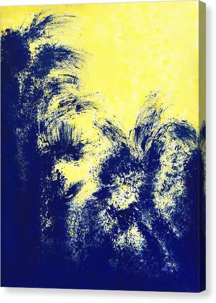 Aquamarine Blue Painting Canvas Print