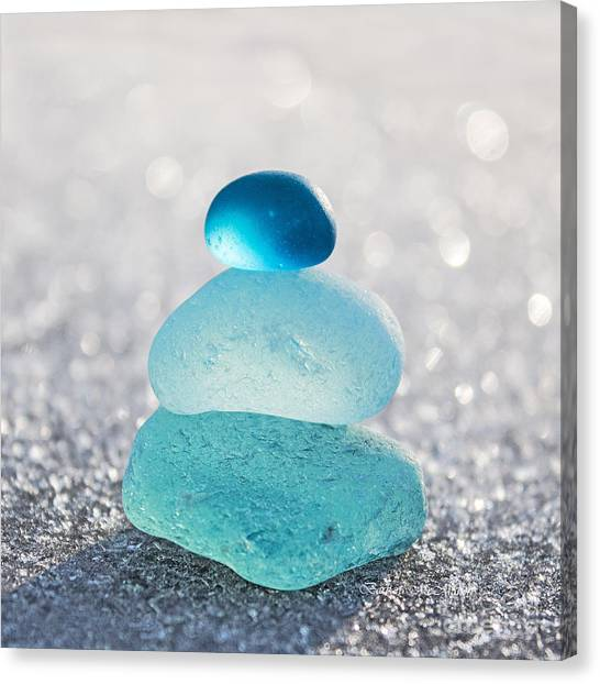 Aquamarine Ice Light Canvas Print