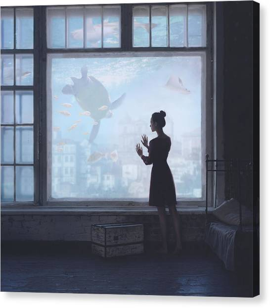 Turtles Canvas Print - Aquatic by Anka Zhuravleva