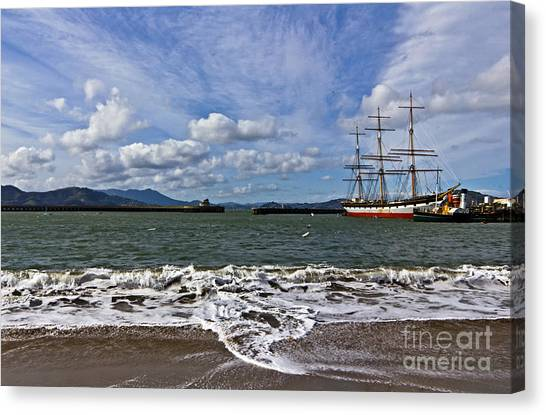 Canvas Print featuring the photograph Aquatic Park by Kate Brown