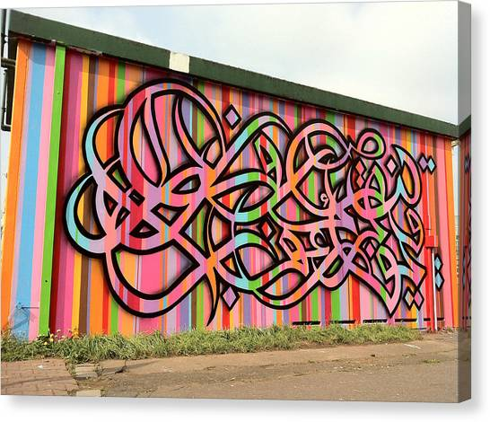 Hip Hop Canvas Print - Arabesque Graffiti by Arik Bennado