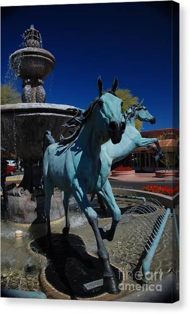 Arabian Horse Sculpture Canvas Print
