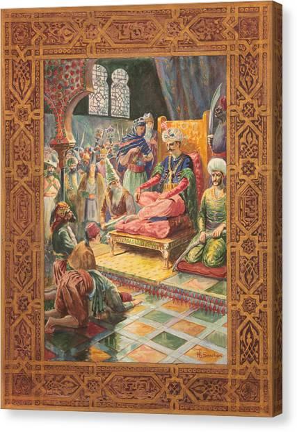 Arabian Nights H J Sandham Canvas Print by Paul Ashby Antique Paintings