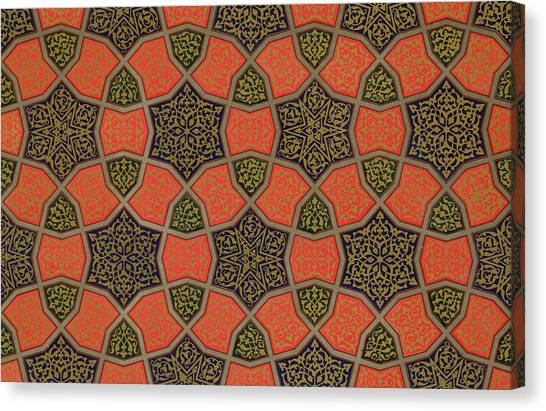 Muslim Canvas Print - Arabic Decorative Design by Emile Prisse dAvennes
