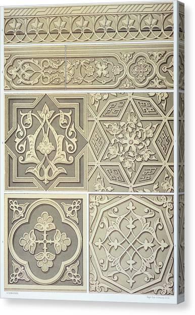 Tile Canvas Print - Arabic Tile Designs  by Anonymous