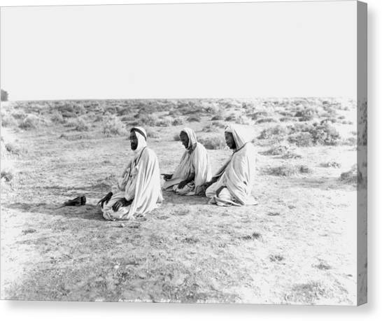 Arabian Desert Canvas Print - Arabs Praying, C1920 by Granger