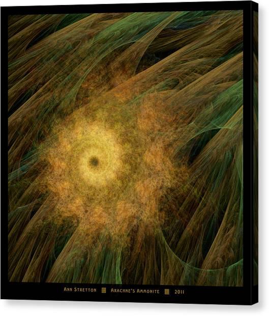 Arachne's Ammonite  Canvas Print