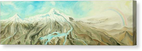 Ararat Canvas Print by Sandra Yegiazaryan