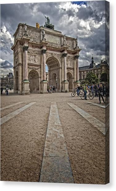 Arc De Triomphe Louvre  Canvas Print