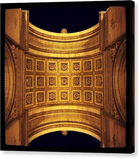French Canvas Print - Arc De Triomphe Paris France #paris by Heidi Hermes