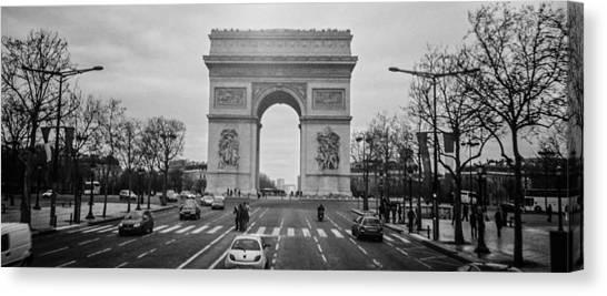 Arc De Triomphe Canvas Print by Steven  Taylor