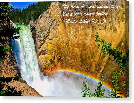 Canvas Print featuring the photograph Arc Of The Moral Universe by Greg Norrell