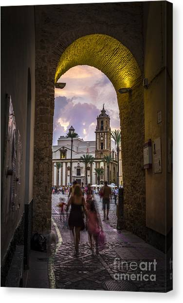 Arc Of The Rose Cadiz Spain Canvas Print