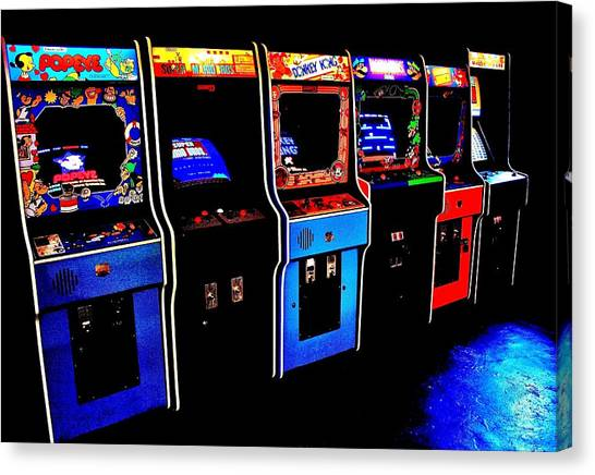 Donkey Kong Canvas Print - Arcade Forever Nintendo by Benjamin Yeager