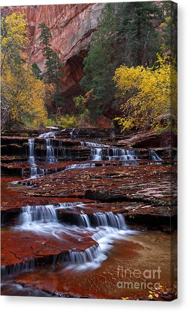 Arch Angel Cascades 2011 Canvas Print