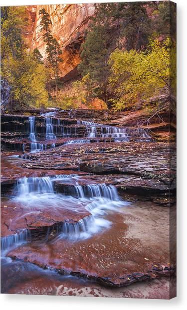 Angel Falls Canvas Print - Arch Angel Cascades by Joseph Rossbach