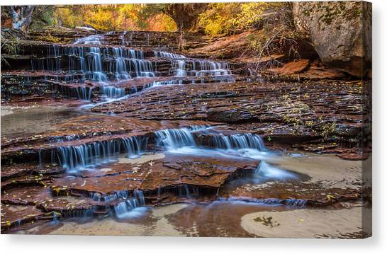 Angel Falls Canvas Print - Arch Angel Falls Zion by Pierre Leclerc Photography