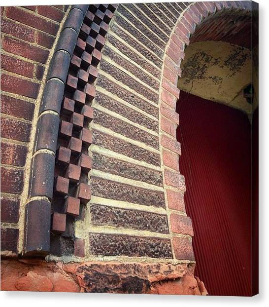Romanesque Art Canvas Print - Tyler St Brick Arch by Rebecca Eilering