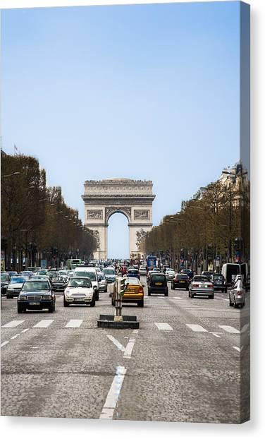 Arch Of Triumph In Paris Canvas Print