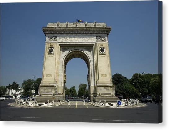 Arch Of Triumph Canvas Print by Ioan Panaite