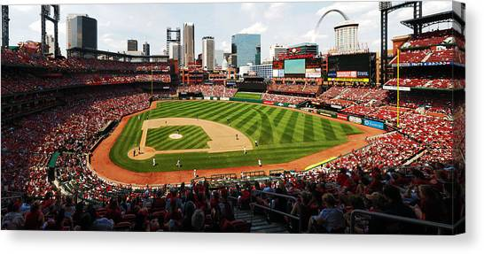 Arch Returns To The Outfield Canvas Print