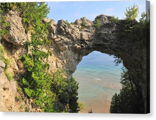 Arch Rock In Mackinac Island State Park Canvas Print