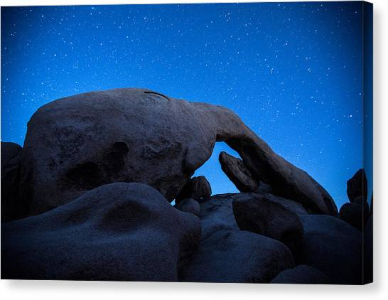 Blue Sky Canvas Print - Arch Rock Starry Night 2 by Stephen Stookey