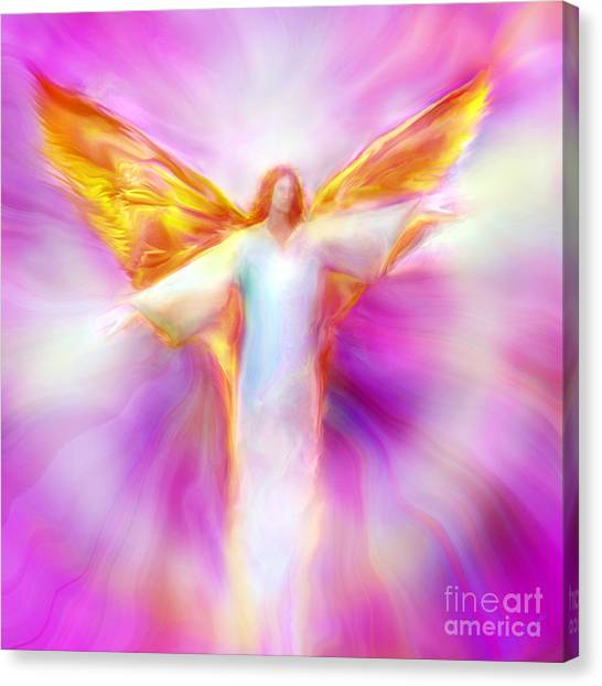 Archangel Sandalphon In Flight Canvas Print