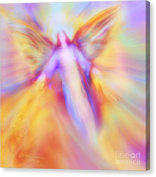 Archangel Uriel In Flight Canvas Print