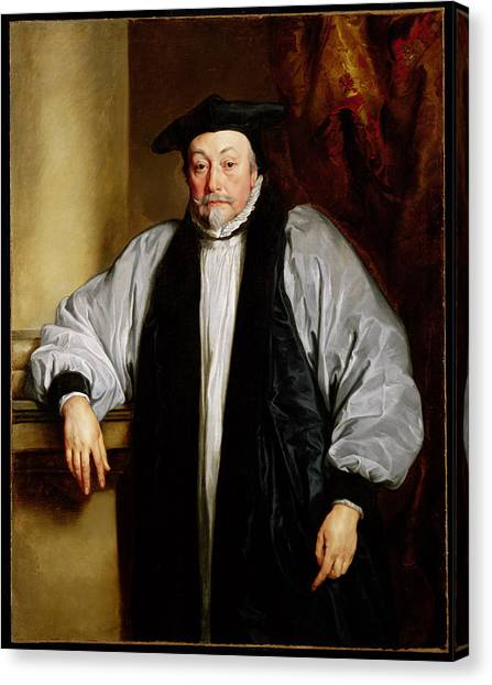 Bishops Canvas Print - Archbishop Laud C.1635-37 by Sir Anthony van Dyck