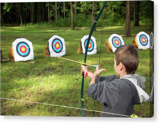 Boy Scouts Canvas Print - Archery by Jim West