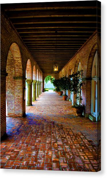 Arches And Bricks Canvas Print