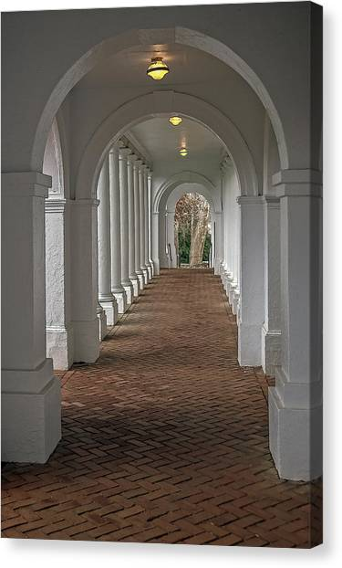 Arches At The Rotunda At University Of Va Canvas Print
