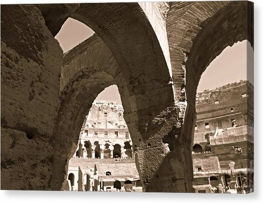Arches In The Colosseum Canvas Print