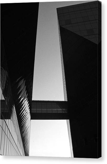 Architectonics Canvas Print - Archetectronics No3 by Maureen J Haldeman