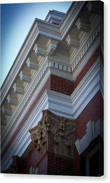 Creative Manipulation Canvas Print - Architechture Morgan County Court House by Reid Callaway