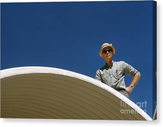 Futurism Canvas Print - Architect R. Duane Conner On The Coley House 1961 by The Harrington Collection
