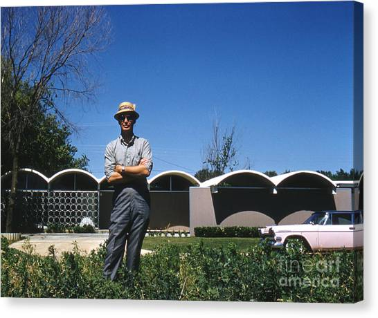 Futurism Canvas Print - Architect R. Duane Conner With The Coley House 1961 by The Harrington Collection