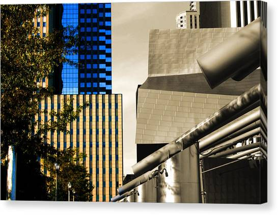 Architectural Crumpled Steel Gehry Canvas Print