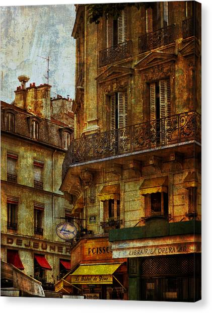 Architectural Detail Librairie Opera Paris Canvas Print