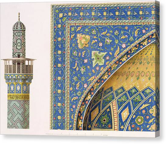 Africa Tiles Canvas Print - Architectural Details From The Mesdjid I Shah by Pascal Xavier Coste