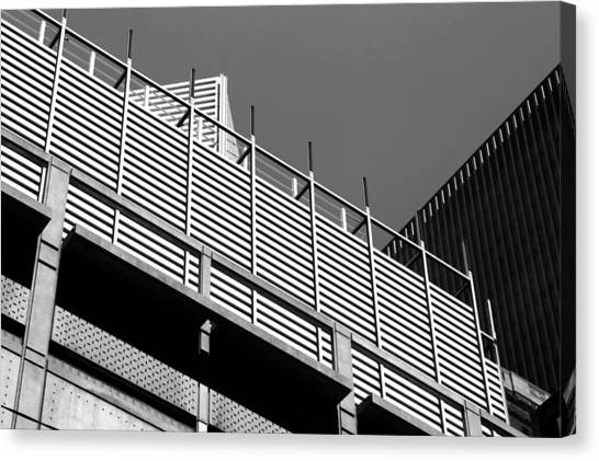 Architectural Lines Black White Canvas Print