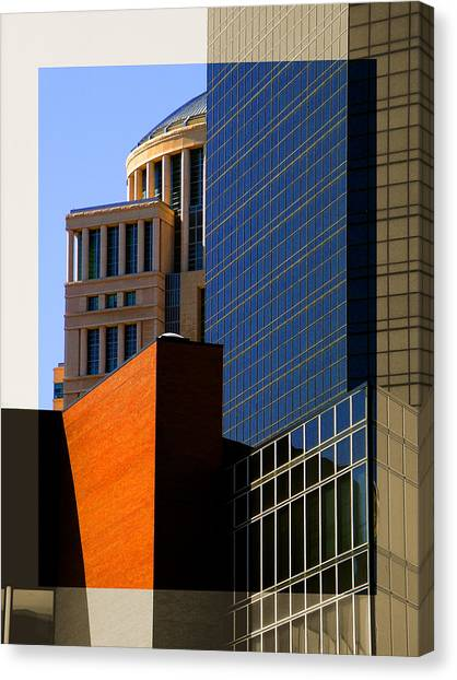 Architectural Stone Steel Glass Canvas Print