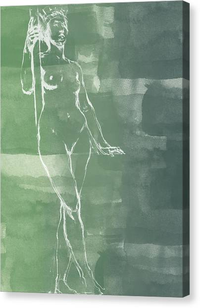 Abstract Nude Canvas Print - Architecture by Aged Pixel