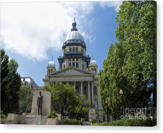 Illinois State Capitol  - Luther Fine Art Canvas Print