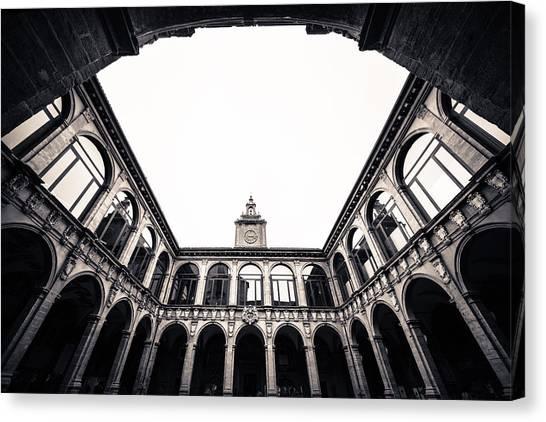 Architecture In Bologna Canvas Print by Pedro Nunez