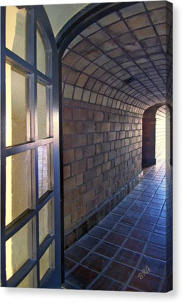 Archway In Mission Inn Riverside Canvas Print