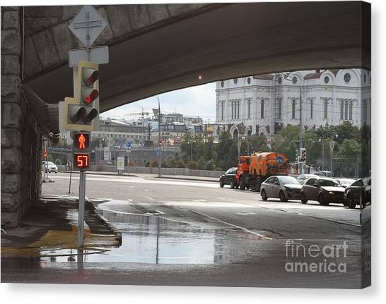 Moscow Skyline Canvas Print - Archway Of Greater Stone Bridge In Moscow I by Anna Yurasovsky