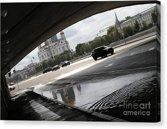 Moscow Skyline Canvas Print - Archway Of Greater Stone Bridge In Moscow II by Anna Yurasovsky