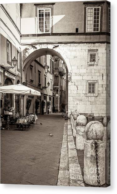 Archway Over Street Canvas Print